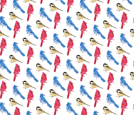 birds_on_white fabric by patti_ on Spoonflower - custom fabric