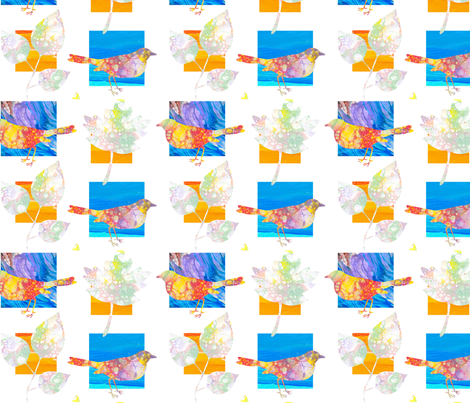 birds_and_leaves fabric by patti_ on Spoonflower - custom fabric