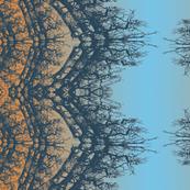 norwgian wood blue and orange