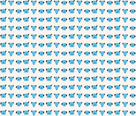 Blue funny dogs fabric by prints_allegra on Spoonflower - custom fabric