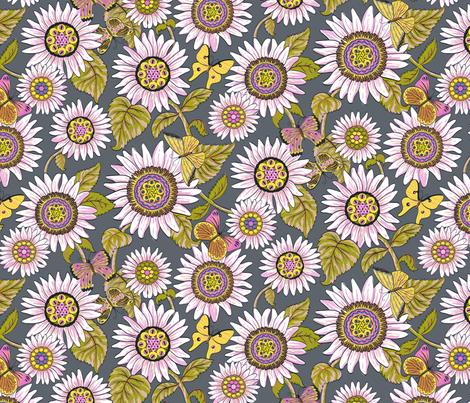 Believe_medium_grey fabric by mindsthatcreate on Spoonflower - custom fabric