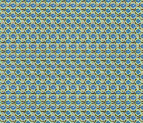 Tile Pattern fabric by linsart on Spoonflower - custom fabric