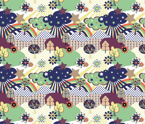 Fabric_Pop_Land fabric by vannina on Spoonflower - custom fabric