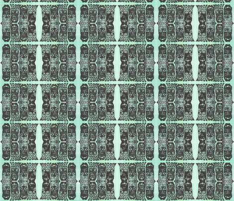 Masked Faces fabric by jennymeadchatterton on Spoonflower - custom fabric