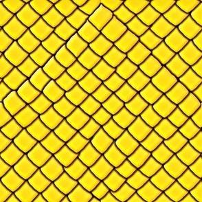 Yellow Garter Snake Skin Scales