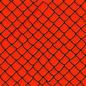 Orange-red Snake Skin Scales