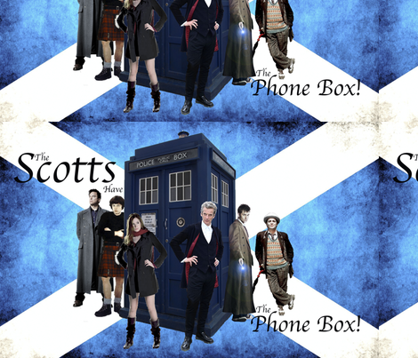 The Scots have the Phone box fabric by warmcanofcoke on Spoonflower - custom fabric