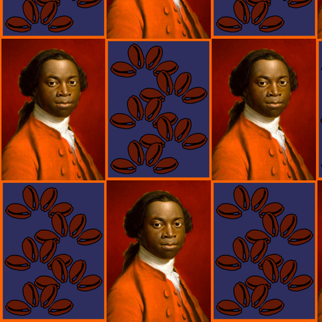 Equiano diptych fabric by nalo_hopkinson on Spoonflower - custom fabric