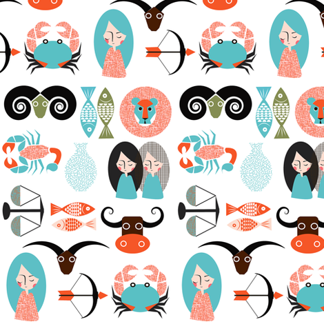 Zodiac fabric by theboutiquestudio on Spoonflower - custom fabric