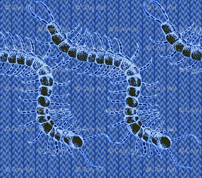 Midnight centipede burlap