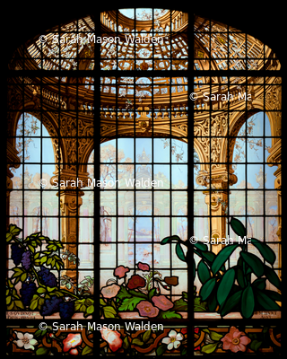Henry G. Marquand House Conservatory Stained Glass Window ~ Large