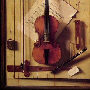 William Michael Harnett Still life Violin and Music