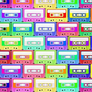 Retro Cassette Tape colorful pattern