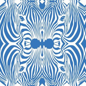 Blue Lovely afrikaan Zebra seamless pattern