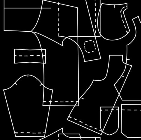 sewing patterns fabric by elinvanegmond on Spoonflower - custom fabric