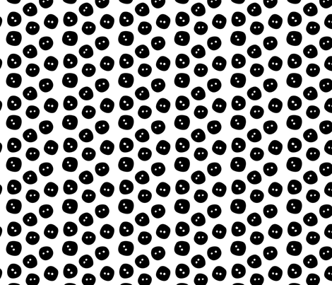 black buttons fabric by elinvanegmond on Spoonflower - custom fabric