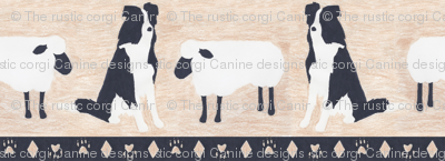 Primitive Border Collie and sheep border - small