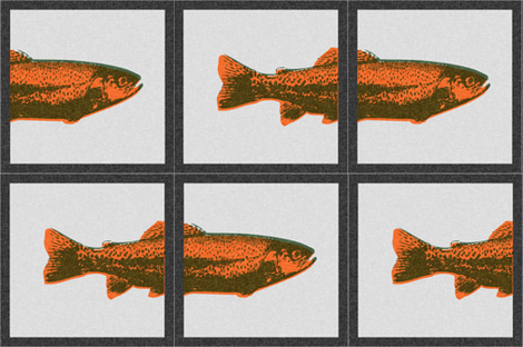 Trout Pillow Panels fabric by thecalvarium on Spoonflower - custom fabric