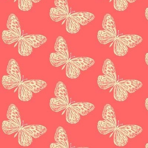 Coral Butterfly // coral pink butterflies