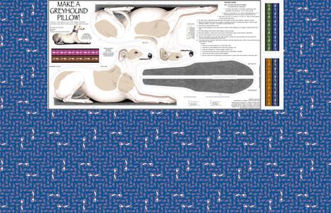 Greyhound Pillow Panel - Bue Fawn Spots Male fabric by artbyjanewalker on Spoonflower - custom fabric