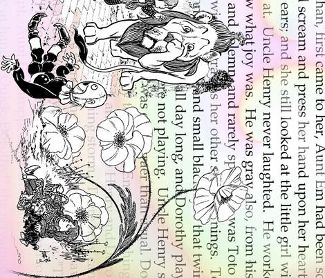 Wizard and rainbows fabric by gomergrl on Spoonflower - custom fabric