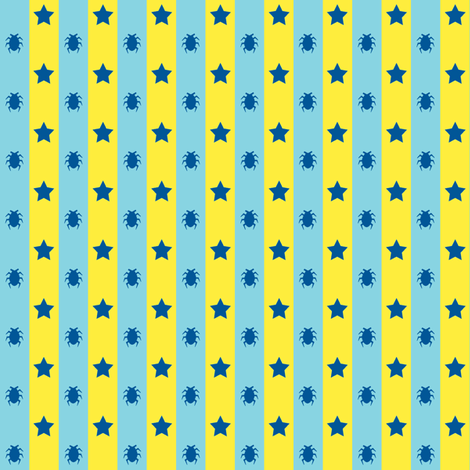 Stars and Beetles fabric by rotten_otome on Spoonflower - custom fabric