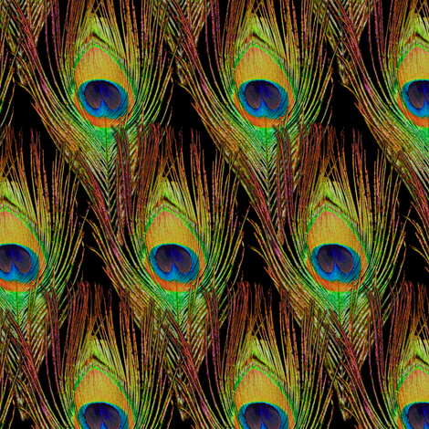 Peacock Feathers  -Single - Diamonds fabric by bonnie_phantasm on Spoonflower - custom fabric
