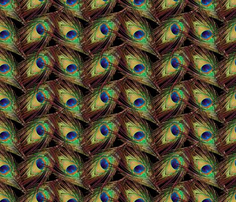 Peacock Feathers - Single - ZigZag fabric by bonnie_phantasm on Spoonflower - custom fabric