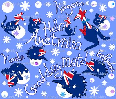Hello Australia Aussie Animals Good day mate
