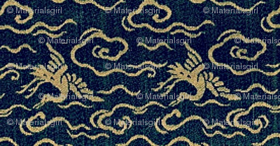 Crane - lapis and turquoise-large