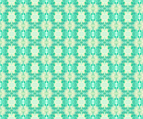 Green_Blossom fabric by fabricouture on Spoonflower - custom fabric
