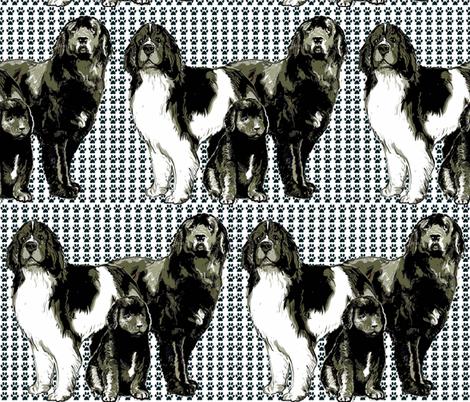 Newfoundland dog family fabric fabric by dogdaze_ on Spoonflower - custom fabric