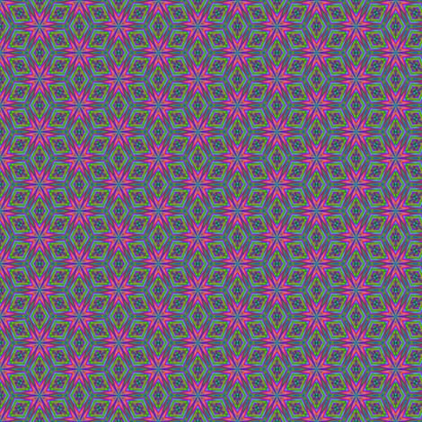 Pink Digital Flowers  fabric by gingezel on Spoonflower - custom fabric