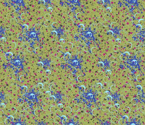 SplatterChartruse fabric by catail_designs on Spoonflower - custom fabric