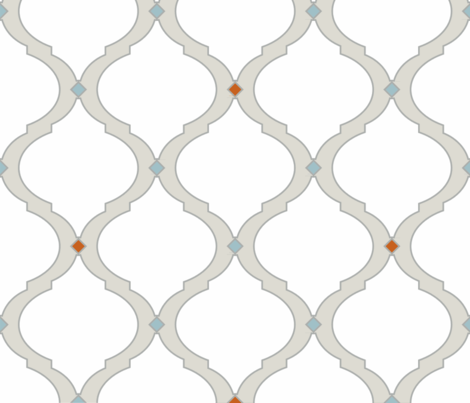 Mediterranean Lattice Modern fabric by danielleonfire on Spoonflower - custom fabric