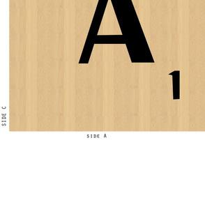 Scrabble Cushion letter A