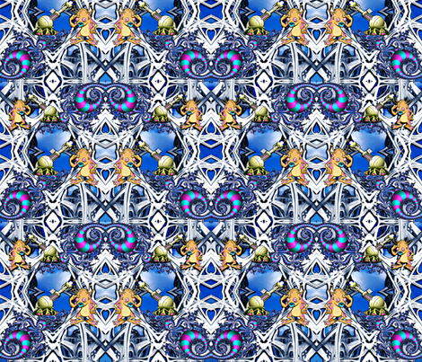 Alien Paint Crew fabric by whimzwhirled on Spoonflower - custom fabric
