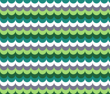 scallop_greens fabric by eclecticlauren on Spoonflower - custom fabric