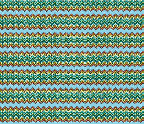 Believe_chevron_emerald fabric by mindsthatcreate on Spoonflower - custom fabric