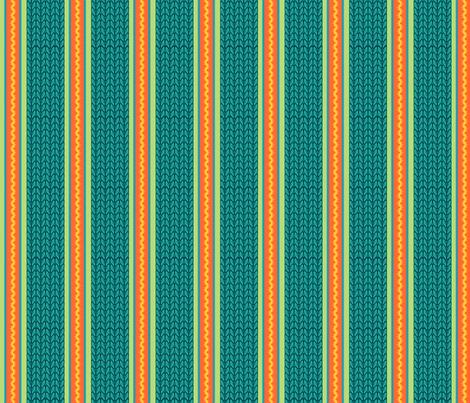 Believe_stripe_emerald fabric by mindsthatcreate on Spoonflower - custom fabric