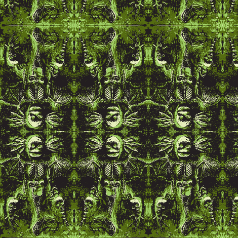 Green Mermaid Demon fabric by smwilde on Spoonflower - custom fabric