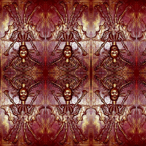 Red Queen Demon fabric by smwilde on Spoonflower - custom fabric