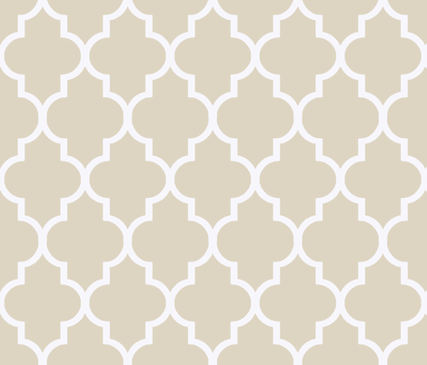 Cream and Sugar Ogee fabric by willowlanetextiles on Spoonflower - custom fabric