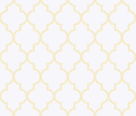 Fresh Butter Ogee fabric by willowlanetextiles on Spoonflower - custom fabric
