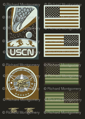 Colonial Navy SEAL Patches
