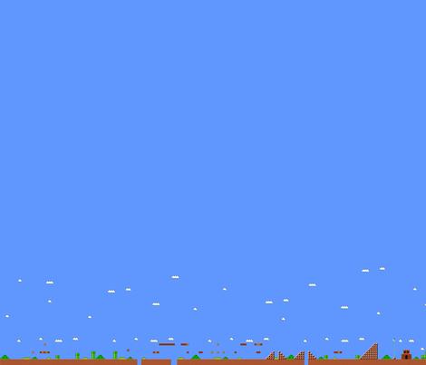 Super Mario World 1-1 fabric by dizzylizzyx on Spoonflower - custom fabric