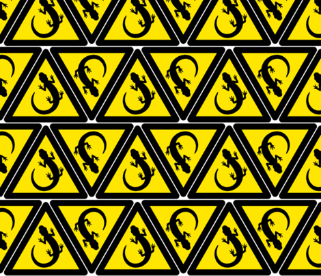 newt hazard signs fabric by sef on Spoonflower - custom fabric