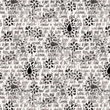 Handwritten collage fabric by raccoons_rags on Spoonflower - custom fabric