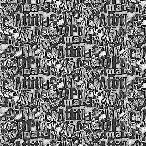 Attitude and anarchy (monochrome)
