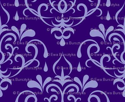 damask small - purple
